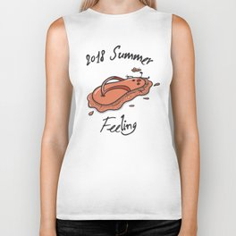 Melting Flip and Flop - in Extreme Heat Biker Tank