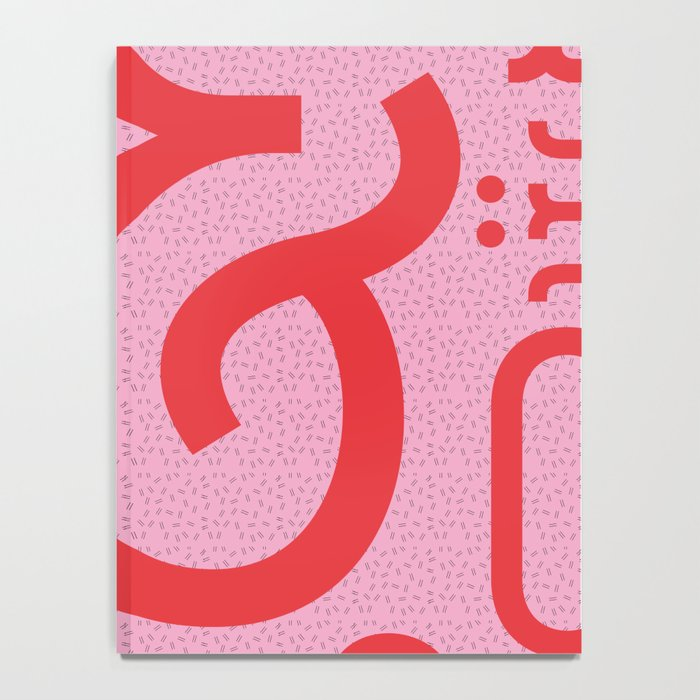 Belleville FY - shades of red Notebook