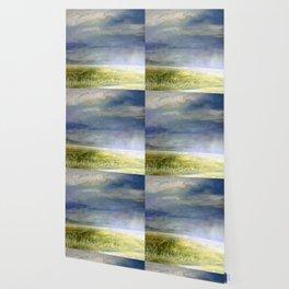 Sea Shore Watercolor Ocean Landscape Nature Art Wallpaper