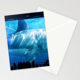 Megalodon Shark in Aquarium Stationery Cards