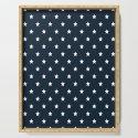 Dark Blue With White Stars Pattern by seafoam12