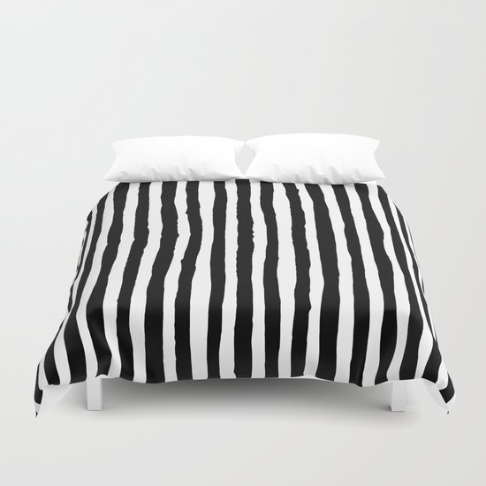 Black and White Vertical Stripes by abigaillarson