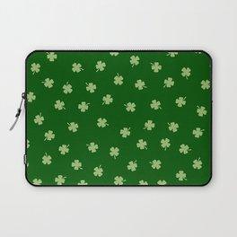 Green Shamrocks Green Background Laptop Sleeve
