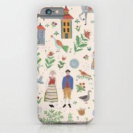 Swedish Folk Art iPhone Case