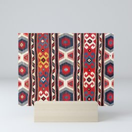 Kazak  Antique Southwest Caucasus Kilim Print Mini Art Print