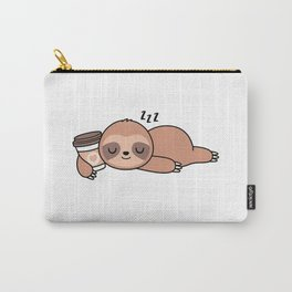 7th Grade Sloth Quote Back to School Funny Coffee 7th Grader T-Shirt Carry-All Pouch