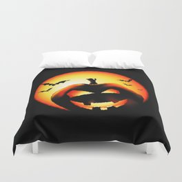 Smile Of Scary Pumpkin Duvet Cover
