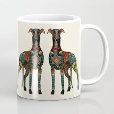 greyhound ivory Mug