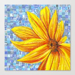Sunflower Mosaic Canvas Print