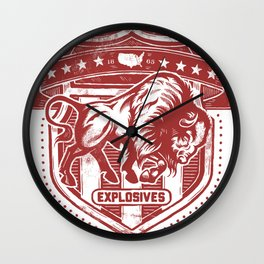 Buffalo Explosives Wall Clock