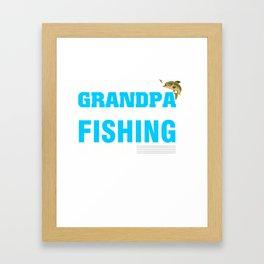 Fishing T-Shirt For Grandpa From Kids. Framed Art Print