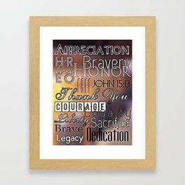 Veteran's Day Framed Art Print
