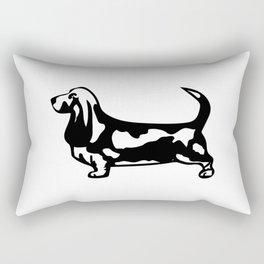 The Nobel Basset Hound Rectangular Pillow