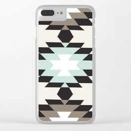 American Native Pattern No. 150 Clear iPhone Case
