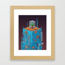 The Blue Tower Framed Art Print