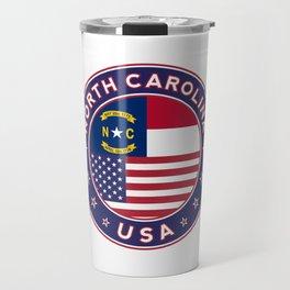 North Carolina, USA States, North Carolina t-shirt, North Carolina sticker, circle Travel Mug