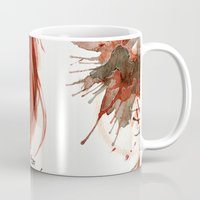 dia de los muertos Mugs featuring Dia de los Muertos by Elena Tsuya