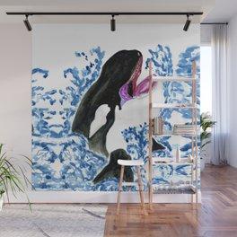 Orca illustration Wall Mural