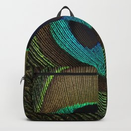 Peacock Feather Symmetry i Backpack