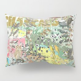 Bird Grid Paste Up Pillow Sham