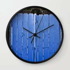 Blue Doors Wall Clock