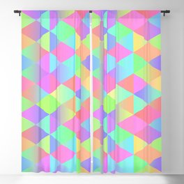 Colorful Geometric Pattern Prism Holographic Foil Triangle Texture Blackout Curtain