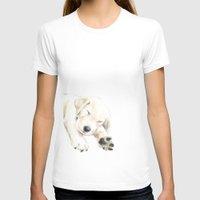 golden retriever T-shirts featuring Golden Retriever Puppy Dog by Triple Studio