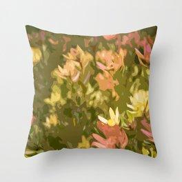 Protea fields Throw Pillow
