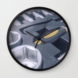 Industrial Socket Set inside Toolbox, Ratchet Socket Kit Wall Clock