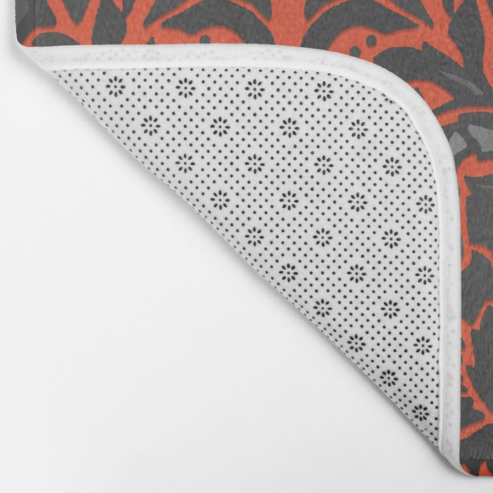 Aya damask orange Bath Mat