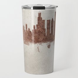 Chicago Illinois Rust Skyline Travel Mug