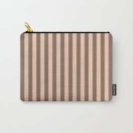 Apricot Stipes Pattern Carry-All Pouch