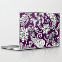 burgundy Laptop & iPad Skins featuring Burgundy by Marcela Caraballo