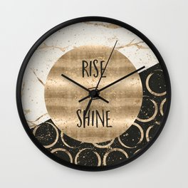 GRAPHIC ART Rise and shine Wall Clock