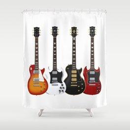 Four Electric Guitars Shower Curtain