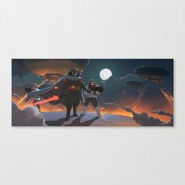 Darth Ghibli's Arrival Canvas Print