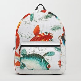 Gold And Silver Fish Backpack