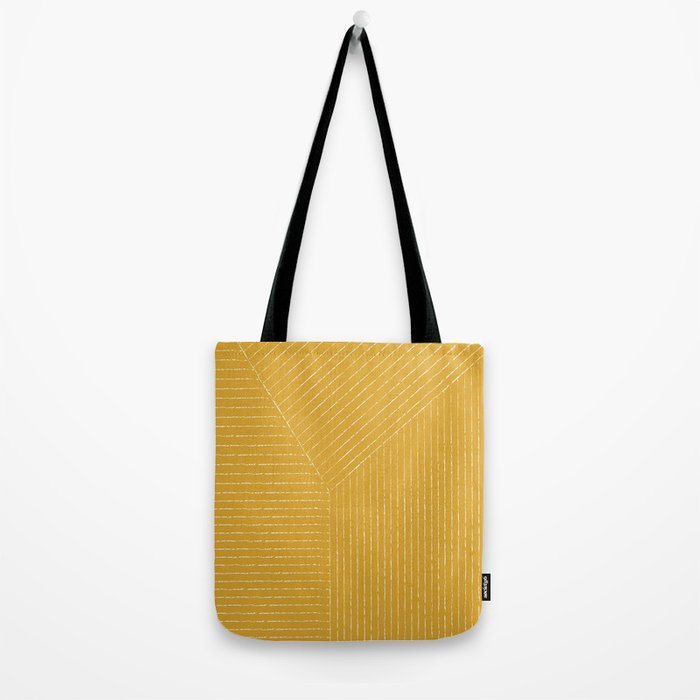 Lines / Yellow Tote Bag