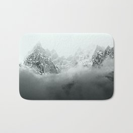 Mont Blanc in Black and White Bath Mat