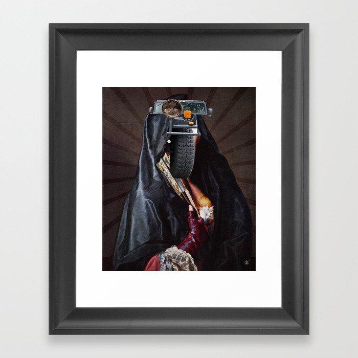 She´s tyred Framed Art Print