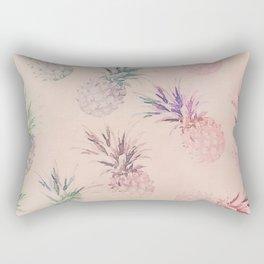 Soft Pastel Pineapple Summe Pattern Rectangular Pillow