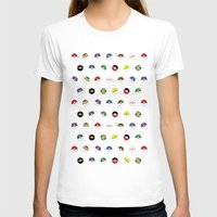 pokeball T-shirts featuring Cute Pokeball Pattern by &joy