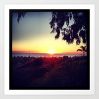 San Diego Sunset Art Print