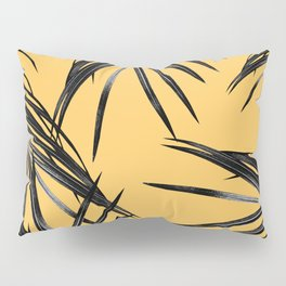 Black Palm Leaves Dream #6 #tropical #decor #art #society6 Pillow Sham