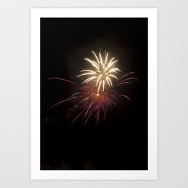 Fireworks on the Fourth - Purple and Gold Art Print