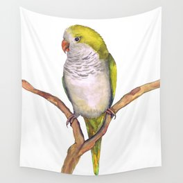 Quaker parrot in watercolor Wall Tapestry
