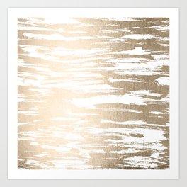White Gold Sands Paintbrush Art Print