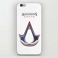 assassins creed iPhone & iPod Skins featuring Assassins Creed - Space by Fatih