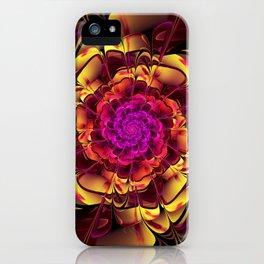 Beautiful Lantana Camara Sunrise Fractal Flowers iPhone Case