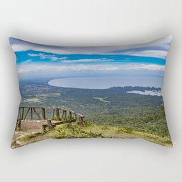 View from Mombacho Volcano of Lake Nicaragua and Islands Rectangular Pillow